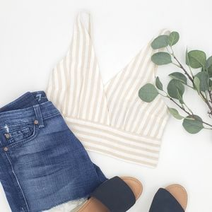 Abercrombie & Fitch Striped Crop Tank Small NWT